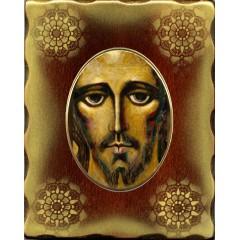 Icona in Porcellana con il Volto Santo