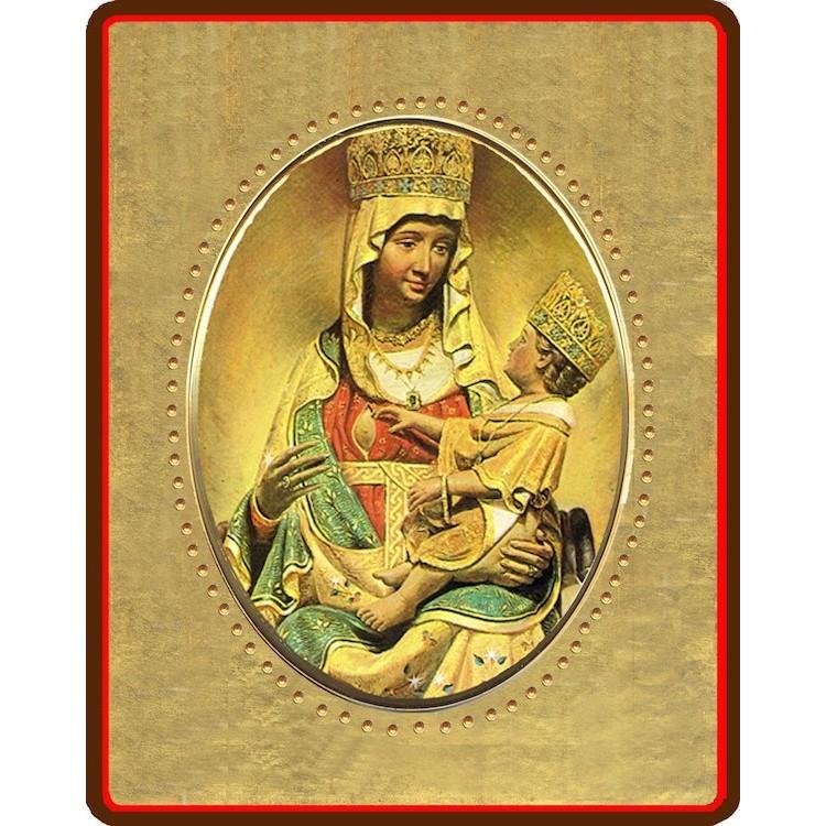 La Madonna di Castelmonte 8x10 cm.