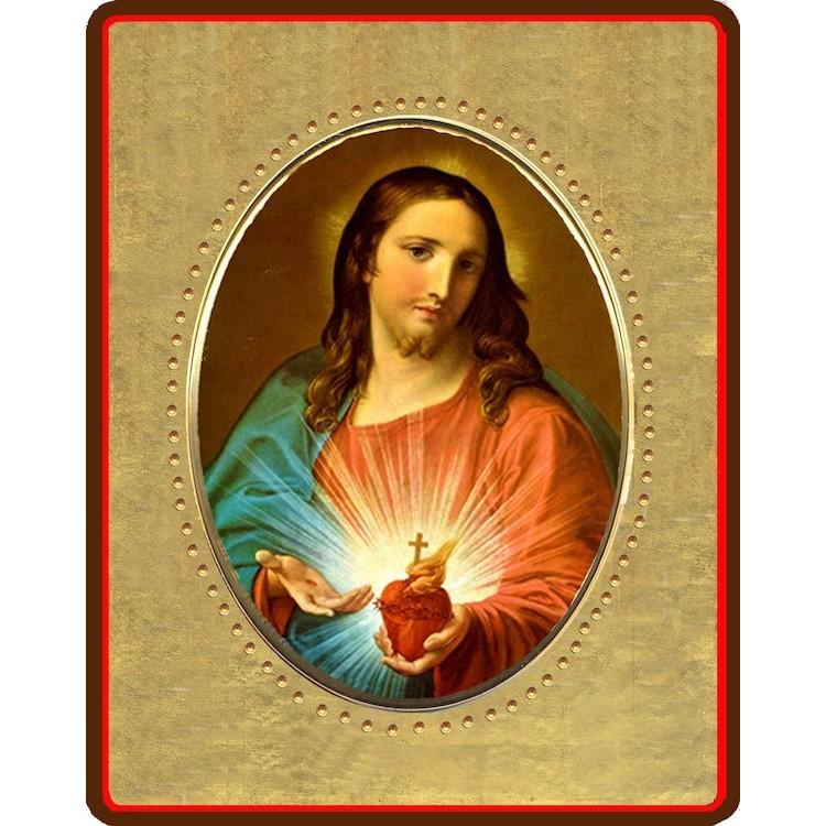 Sacro Cuor di Gesù  8x10 cm.