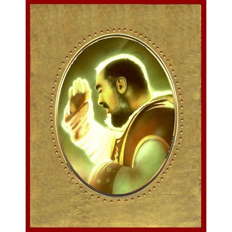 San Pio da Pietrelcina 15x20 cm.