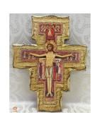 Articoli Francescani, Bracciali e Collane con Tau olivo, Croci San Damiano, Arazzi francescani,  Portachiavi francescani